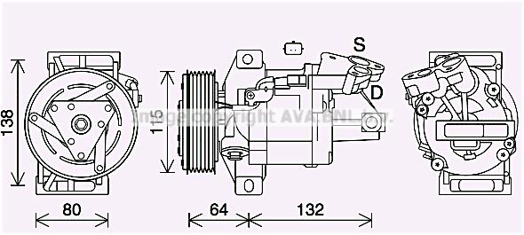Compresseur AVA QUALITY COOLING DAK016 (X1)