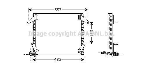 Condenseur / Radiateur de climatisation AVA QUALITY COOLING DN5272 (X1)