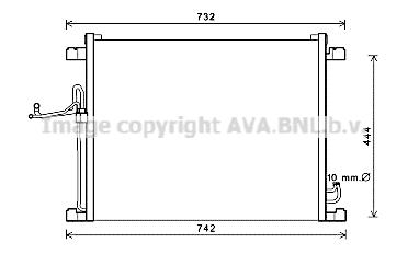 Condenseur / Radiateur de climatisation AVA QUALITY COOLING DN5392 (X1)