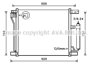 Condenseur / Radiateur de climatisation AVA QUALITY COOLING DN5401D (X1)