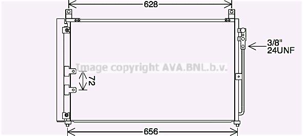 Condenseur / Radiateur de climatisation AVA QUALITY COOLING DN5448D (X1)