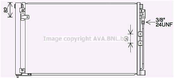 Condenseur / Radiateur de climatisation AVA QUALITY COOLING DN5452D (X1)