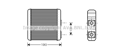 Radiateur de chauffage AVA QUALITY COOLING DN6139 (X1)