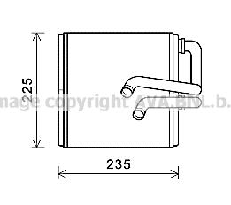 Radiateur de chauffage AVA QUALITY COOLING DN6410 (X1)