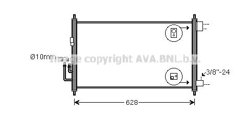 Condenseur / Radiateur de climatisation AVA QUALITY COOLING DNA5372 (X1)