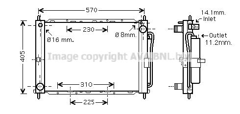 Module de refroidissement AVA QUALITY COOLING DNM369 (X1)