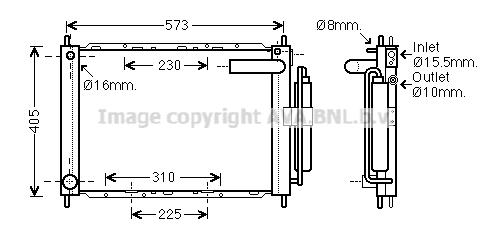 Module de refroidissement AVA QUALITY COOLING DNM370 (X1)