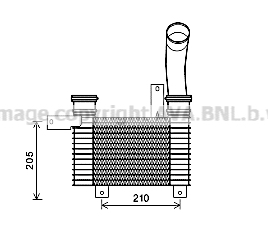 Intercooler radiateur de turbo AVA QUALITY COOLING DW4094 (X1)