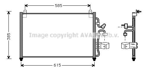 Condenseur / Radiateur de climatisation AVA QUALITY COOLING DW5013 (X1)