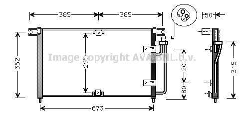 Condenseur / Radiateur de climatisation AVA QUALITY COOLING DW5032 (X1)