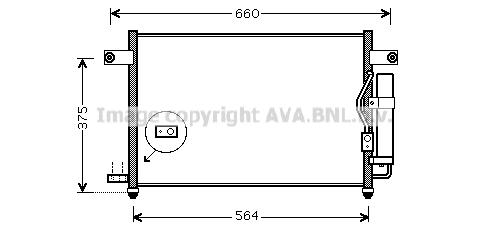 Condenseur / Radiateur de climatisation AVA QUALITY COOLING DW5049D (X1)