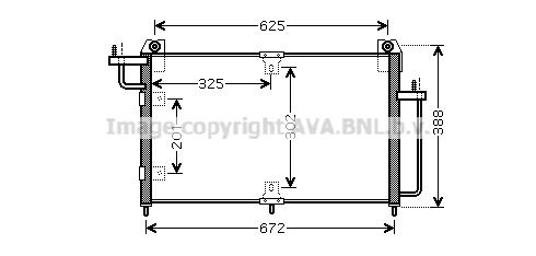 Condenseur / Radiateur de climatisation AVA QUALITY COOLING DW5065 (X1)