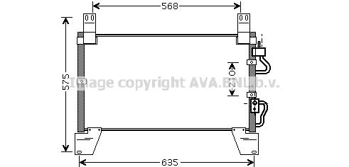 Condenseur / Radiateur de climatisation AVA QUALITY COOLING DW5077 (X1)