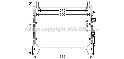 Condenseur / Radiateur de climatisation AVA QUALITY COOLING DW5083 (X1)