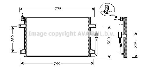 Condenseur / Radiateur de climatisation AVA QUALITY COOLING DW5085 (X1)