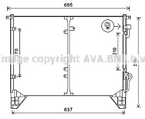 Condenseur / Radiateur de climatisation AVA QUALITY COOLING DW5116 (X1)