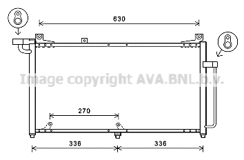 Condenseur / Radiateur de climatisation AVA QUALITY COOLING DW5128 (X1)