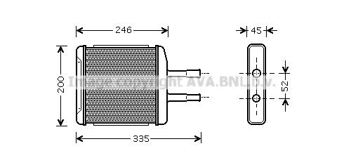 Radiateur de chauffage AVA QUALITY COOLING DW6059 (X1)