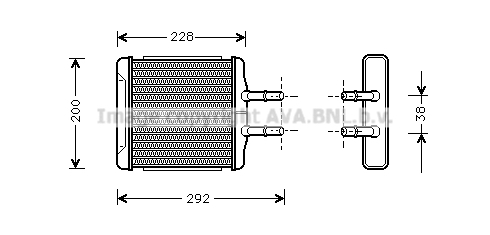 Radiateur de chauffage AVA QUALITY COOLING DWA6027 (X1)