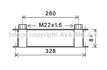Radiateur huile AVA QUALITY COOLING DZ3031 (X1)