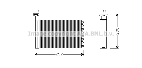 Radiateur de chauffage AVA QUALITY COOLING FD6164 (X1)