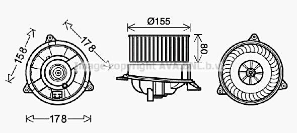 Moteur de ventilateur de chauffage AVA QUALITY COOLING FD8495 (X1)
