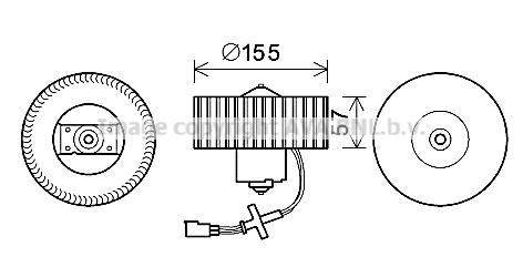 Moteur de ventilateur de chauffage AVA QUALITY COOLING FD8568 (X1)