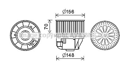Moteur de ventilateur de chauffage AVA QUALITY COOLING FD8618 (X1)