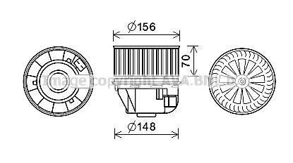 Moteur de ventilateur de chauffage AVA QUALITY COOLING FD8634 (X1)