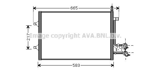 Condenseur / Radiateur de climatisation AVA QUALITY COOLING FDA5395 (X1)