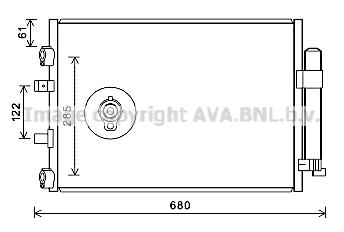Condenseur / Radiateur de climatisation AVA QUALITY COOLING FDA5484D (X1)