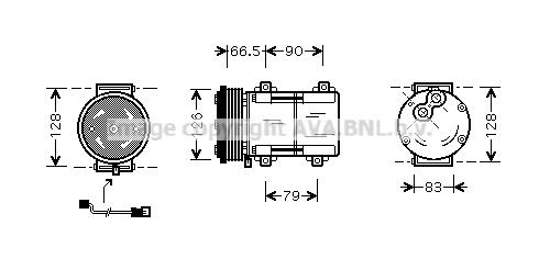 Compresseur AVA QUALITY COOLING FDAK276 (X1)