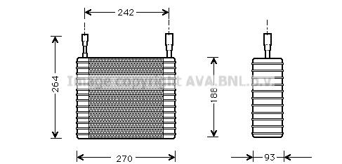 Evaporateur AVA QUALITY COOLING FDV025 (X1)
