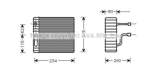 Evaporateur AVA QUALITY COOLING FDV089 (X1)