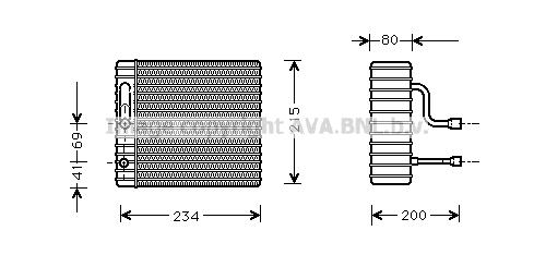 Evaporateur AVA QUALITY COOLING FDV104 (X1)