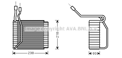Evaporateur AVA QUALITY COOLING FDV110 (X1)