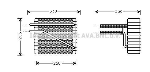Evaporateur AVA QUALITY COOLING FDV269 (X1)