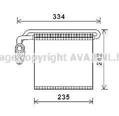 Evaporateur AVA QUALITY COOLING FDV461 (X1)