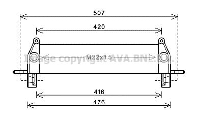 Radiateur huile AVA QUALITY COOLING FE3022 (X1)