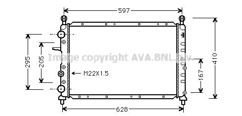 Radiateur de refroidissement AVA QUALITY COOLING FT2066 (X1)