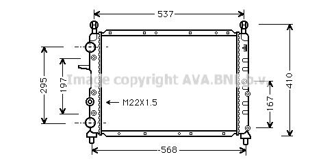Radiateur de refroidissement AVA QUALITY COOLING FT2094 (X1)