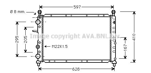 Radiateur de refroidissement AVA QUALITY COOLING FT2096 (X1)