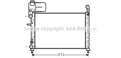 Radiateur de refroidissement AVA QUALITY COOLING FT2101 (X1)