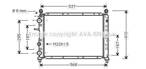 Radiateur de refroidissement AVA QUALITY COOLING FT2109 (X1)