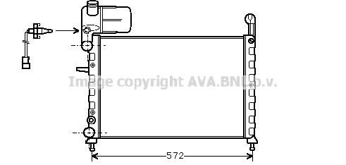 Radiateur de refroidissement AVA QUALITY COOLING FT2120 (X1)