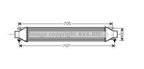 Intercooler radiateur de turbo AVA QUALITY COOLING FT4321 (X1)