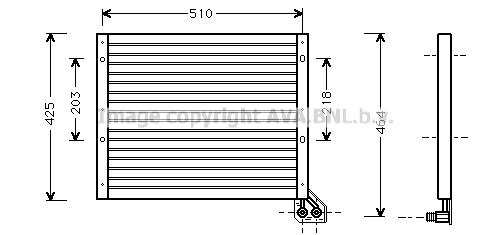 Condenseur / Radiateur de climatisation AVA QUALITY COOLING FT5156 (X1)