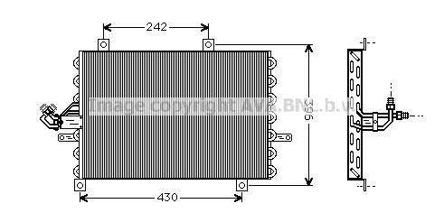 Condenseur / Radiateur de climatisation AVA QUALITY COOLING FT5192 (X1)