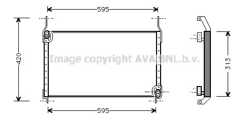 Condenseur / Radiateur de climatisation AVA QUALITY COOLING FT5204 (X1)