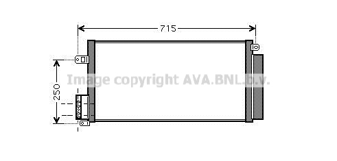 Condenseur / Radiateur de climatisation AVA QUALITY COOLING FT5310D (X1)